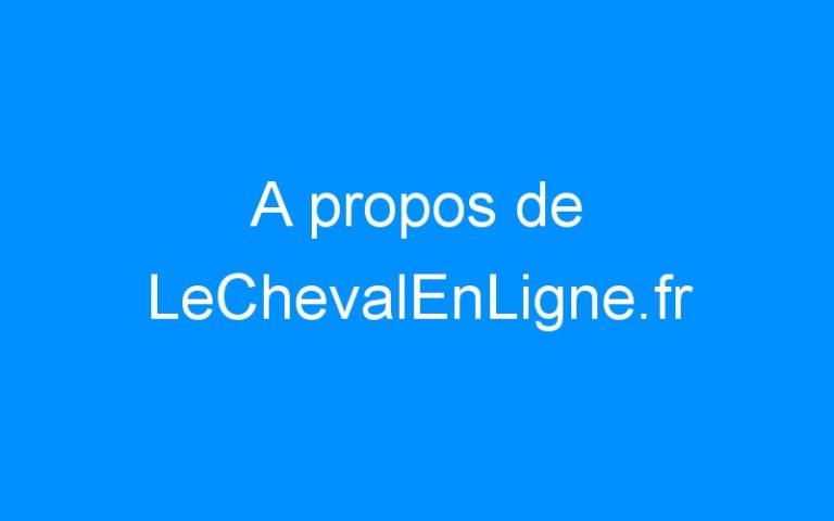 A propos de LeChevalEnLigne.fr