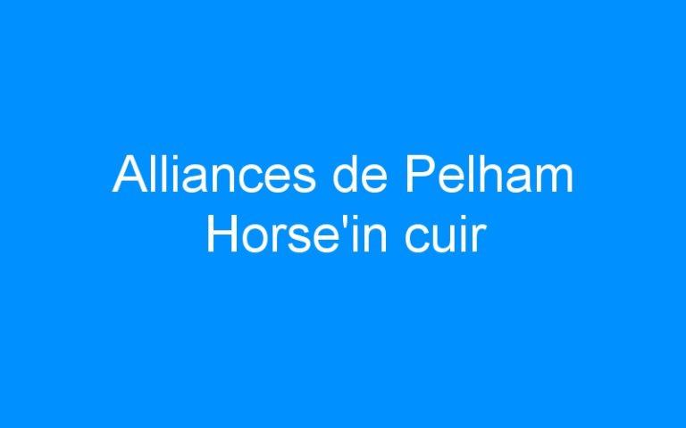 Alliances de Pelham Horse'in cuir