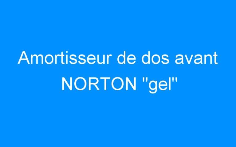 Amortisseur de dos avant NORTON «gel»