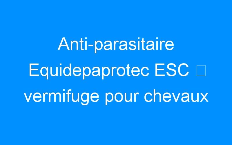 Anti-parasitaire Equidepaprotec ESC ⇒ vermifuge pour chevaux