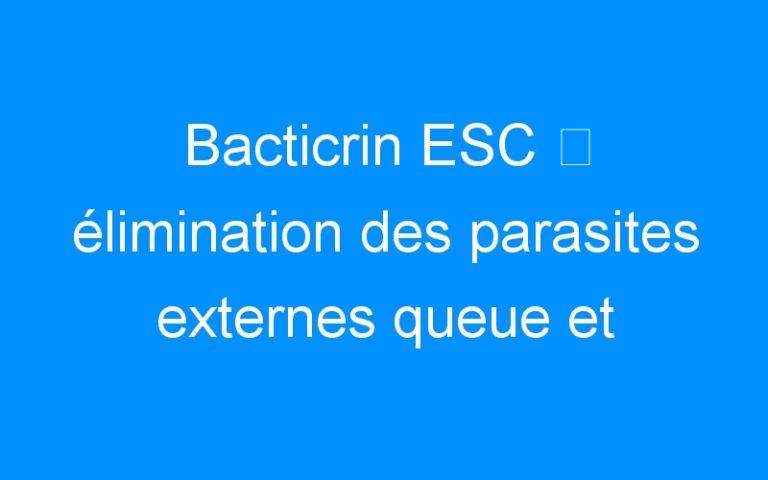 Bacticrin ESC ⇒ élimination des parasites externes queue et crinière