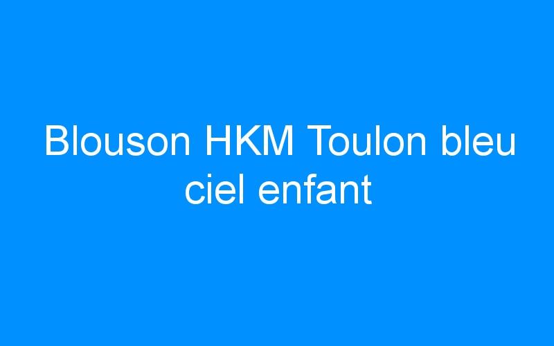 Blouson HKM Toulon bleu ciel enfant