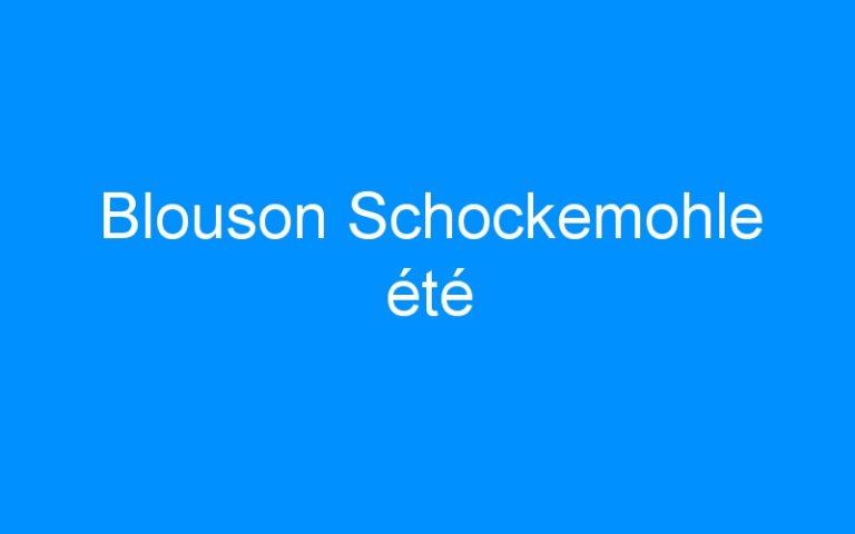 Blouson Schockemohle été