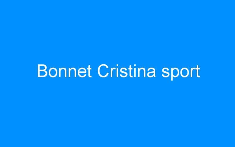 Bonnet Cristina sport