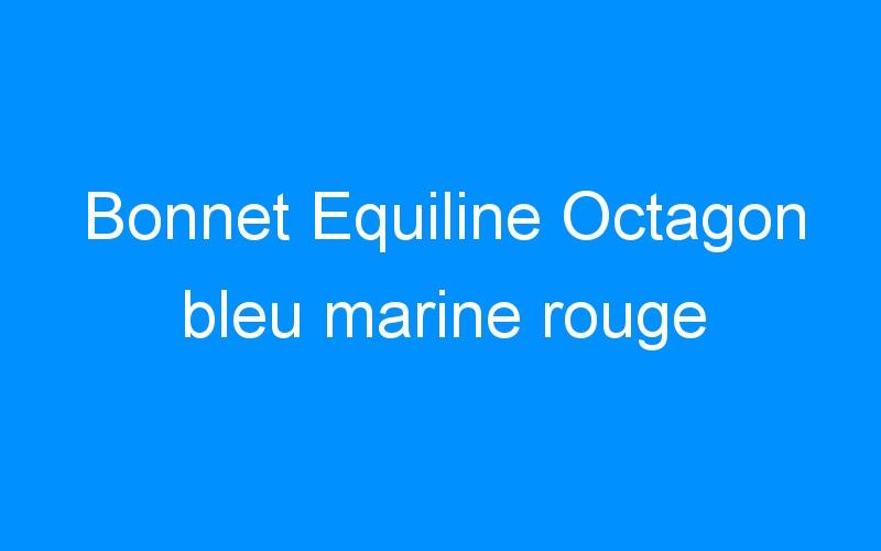 Bonnet Equiline Octagon bleu marine rouge