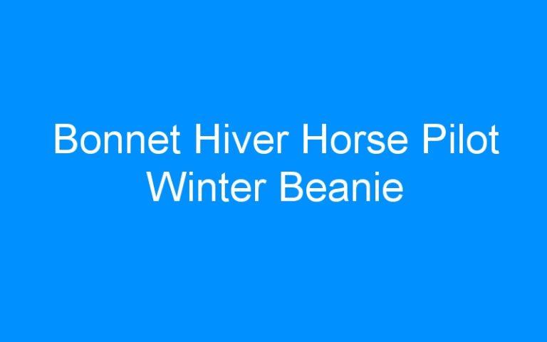 Bonnet Hiver Horse Pilot Winter Beanie