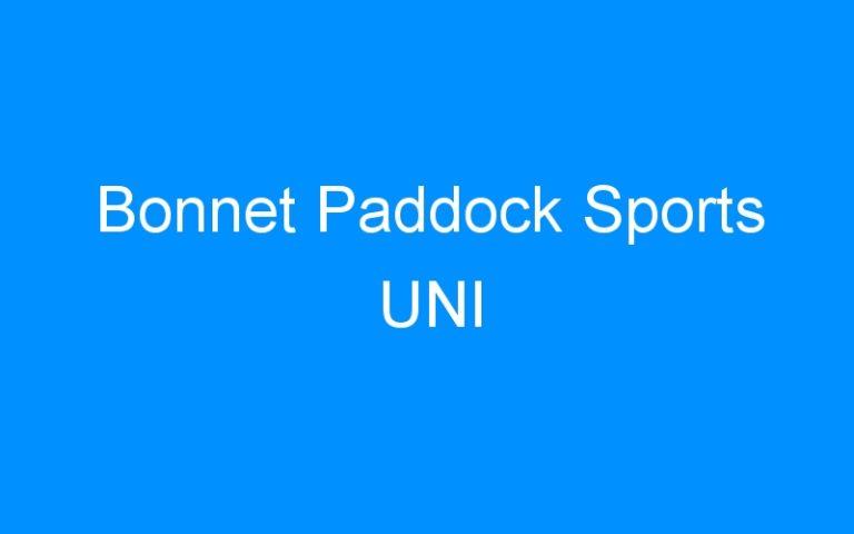 Bonnet Paddock Sports UNI