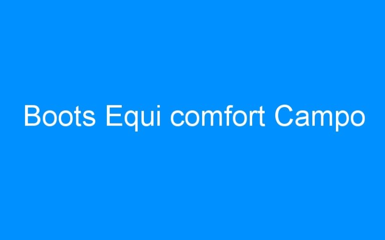 Boots Equi comfort Campo