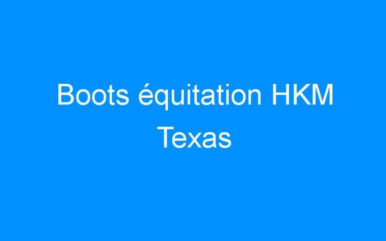 Boots équitation HKM Texas
