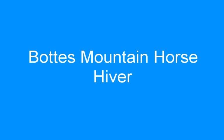 Bottes Mountain Horse Hiver