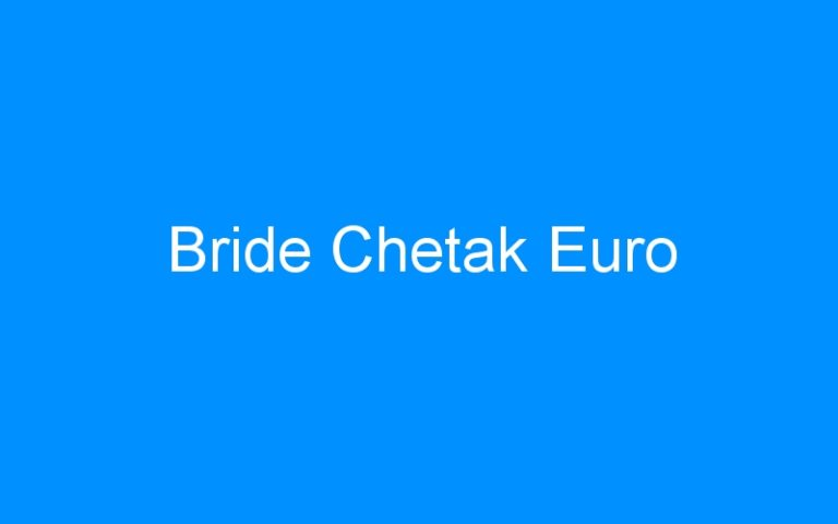 Bride Chetak Euro
