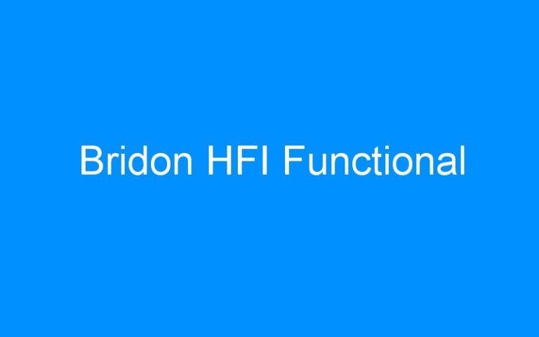 Bridon HFI Functional