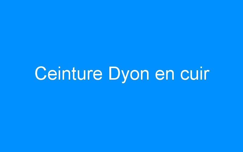 Ceinture Dyon en cuir
