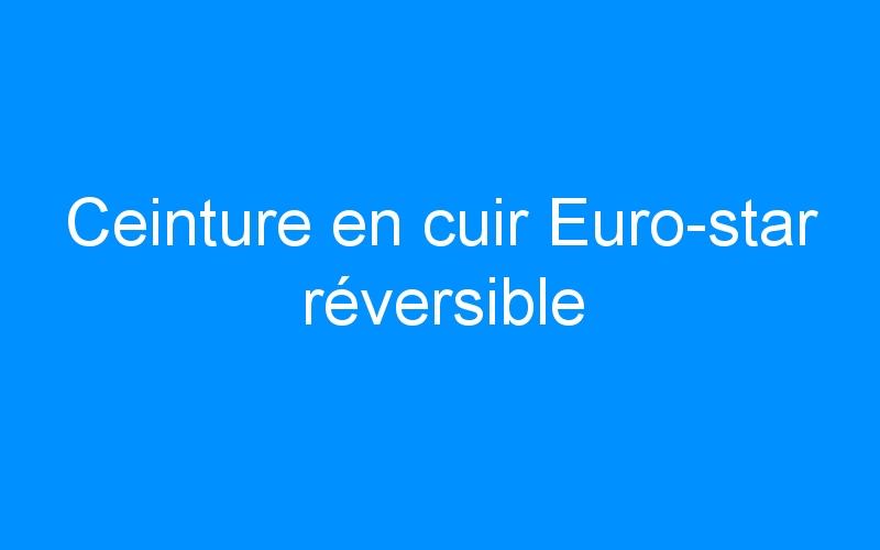 Ceinture en cuir Euro-star réversible