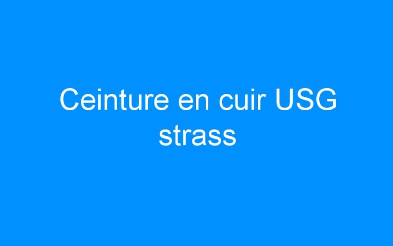 Ceinture en cuir USG strass