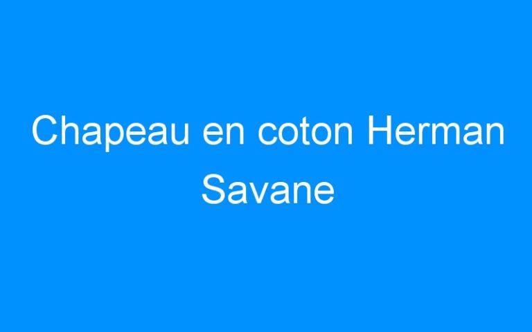 Chapeau en coton Herman Savane