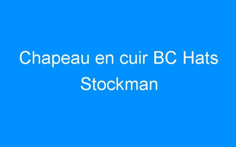 Chapeau en cuir BC Hats Stockman