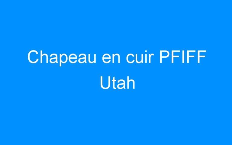 Chapeau en cuir PFIFF Utah