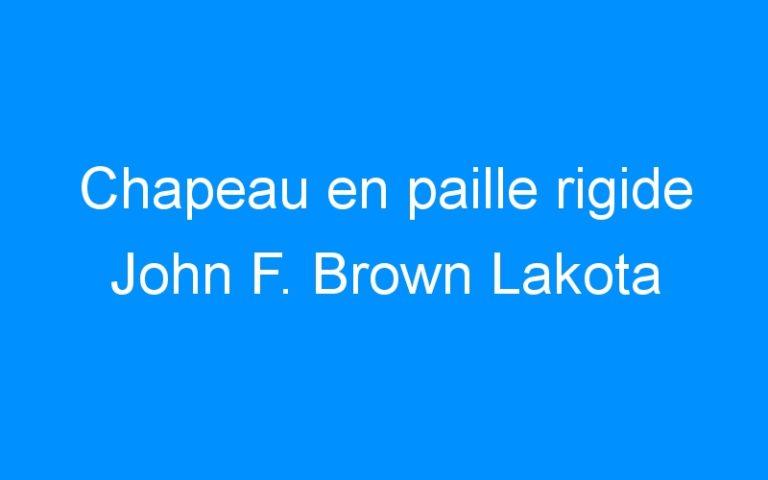 Chapeau en paille rigide John F. Brown Lakota