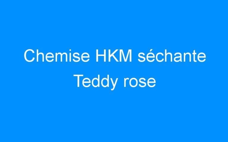 Chemise HKM séchante Teddy rose