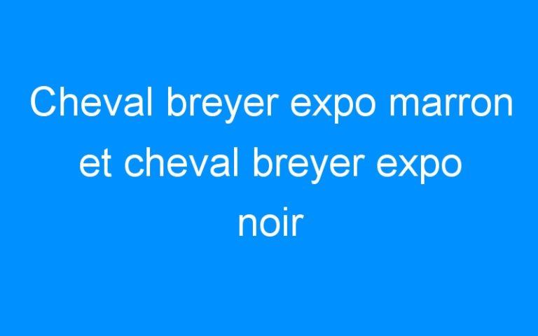 Cheval breyer expo marron et cheval breyer expo noir