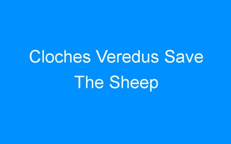 Cloches Veredus Save The Sheep