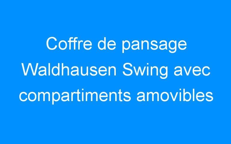 Coffre de pansage Waldhausen Swing avec compartiments amovibles