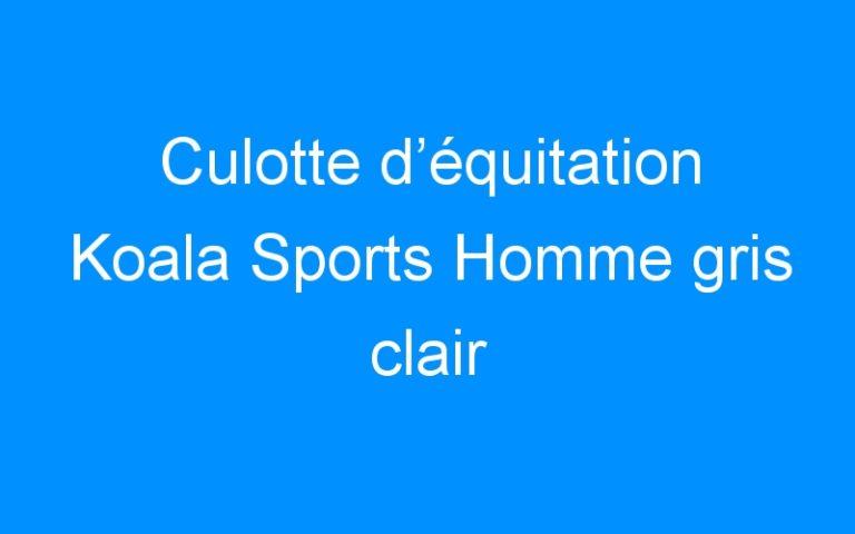 Culotte d'équitation Koala Sports Homme gris clair