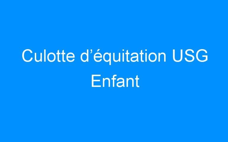 Culotte d'équitation USG Enfant
