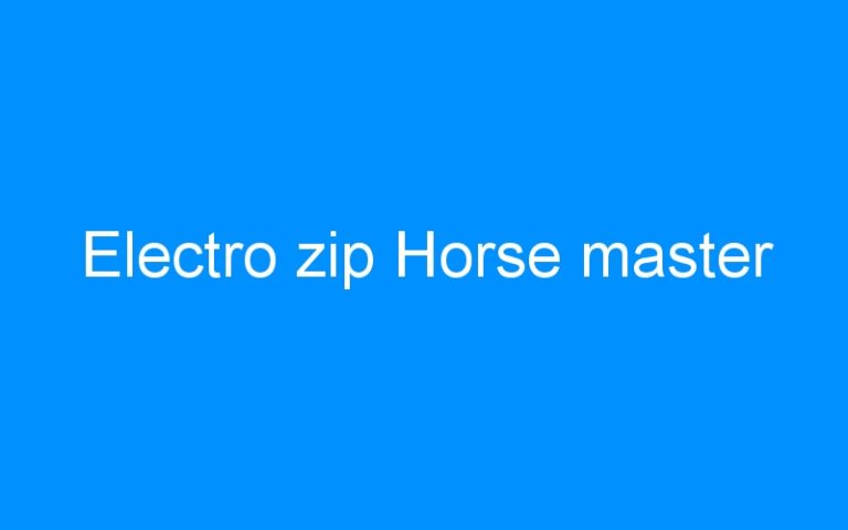 Electro zip Horse master