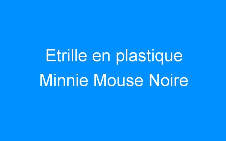 Etrille en plastique Minnie Mouse Noire