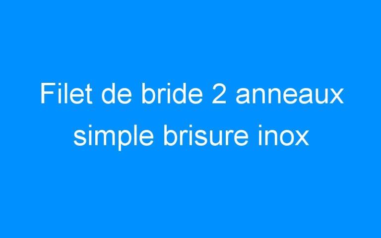 Filet de bride 2 anneaux simple brisure inox