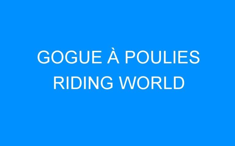 GOGUE À POULIES RIDING WORLD