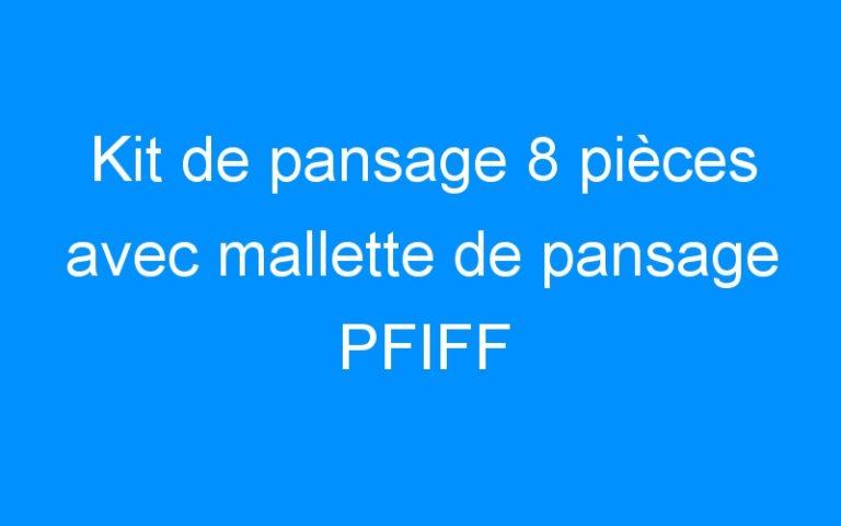 Kit de pansage 8 pièces avec mallette de pansage PFIFF
