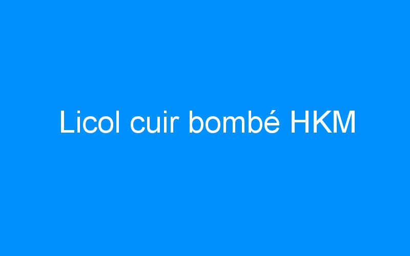 Licol cuir bombé HKM