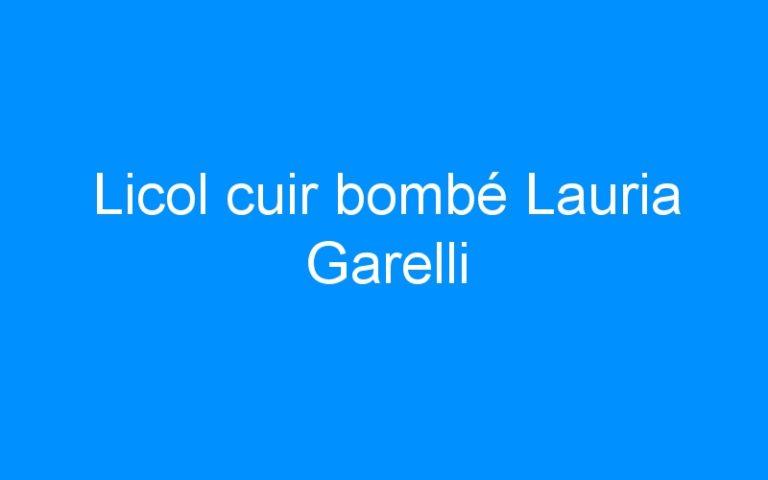 Licol cuir bombé Lauria Garelli