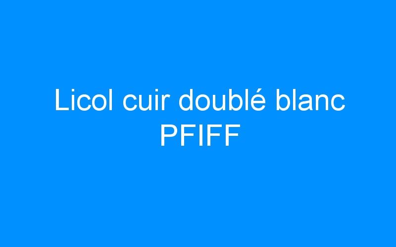 Licol cuir doublé blanc PFIFF