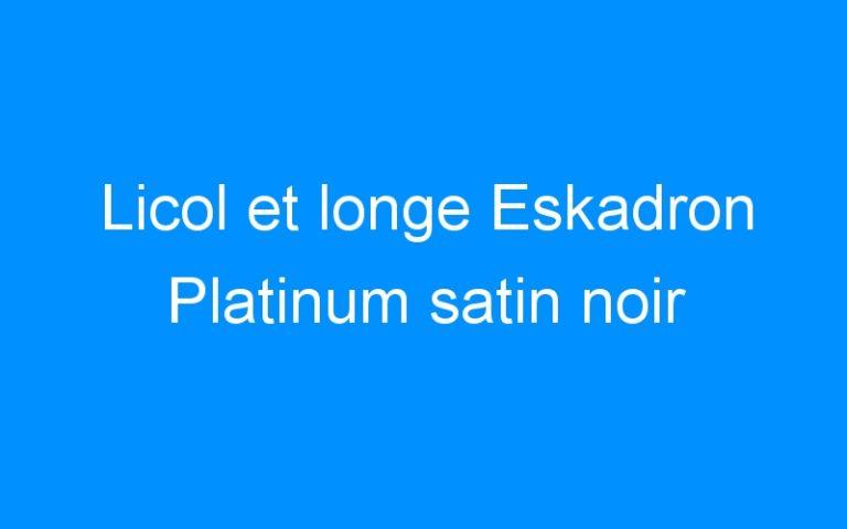 Licol et longe Eskadron Platinum satin noir