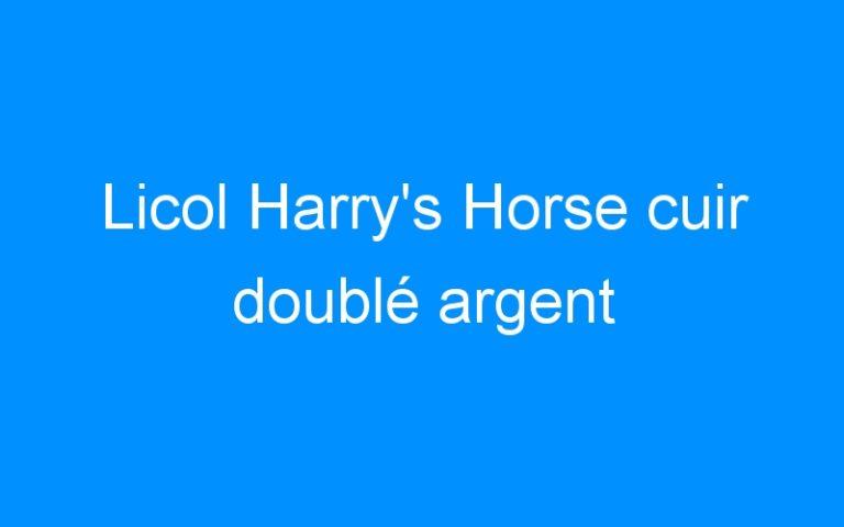 Licol Harry's Horse cuir doublé argent