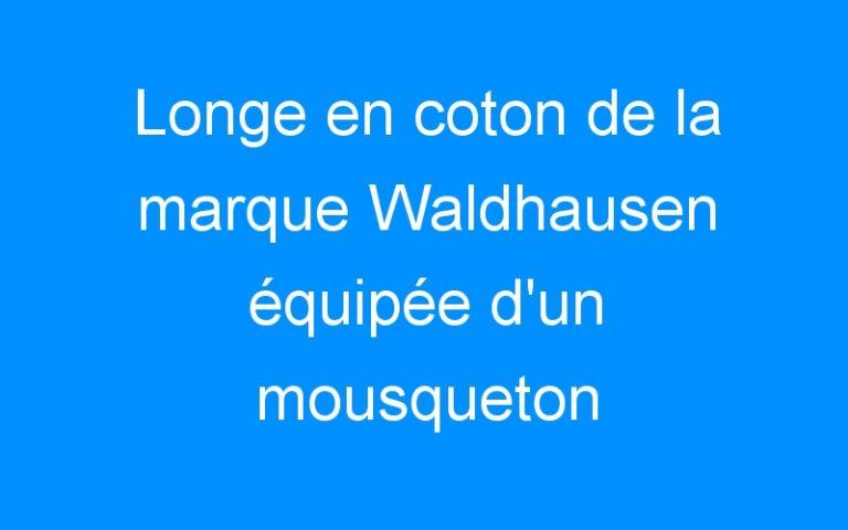 Longe en coton de la marque Waldhausen équipée d'un mousqueton