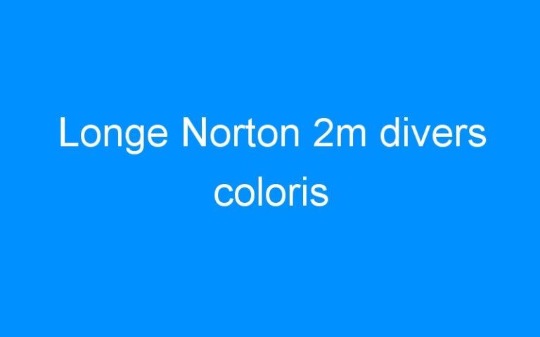 Longe Norton 2m divers coloris