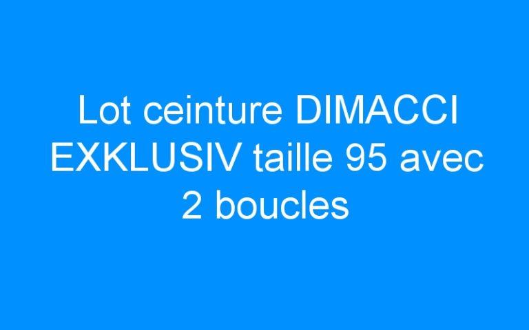 Lot ceinture DIMACCI EXKLUSIV taille 95 avec 2 boucles