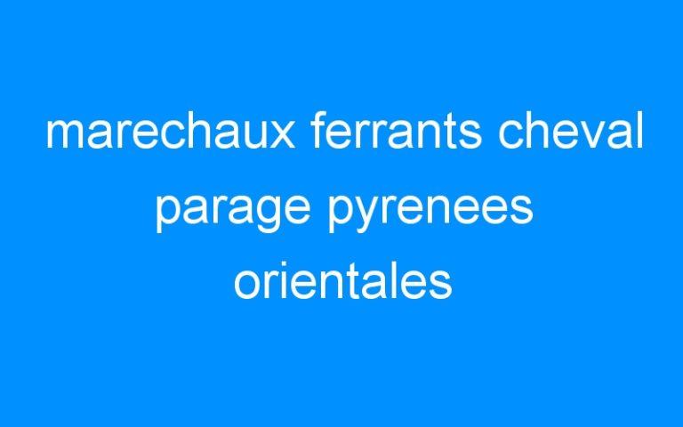 marechaux ferrants cheval parage pyrenees orientales
