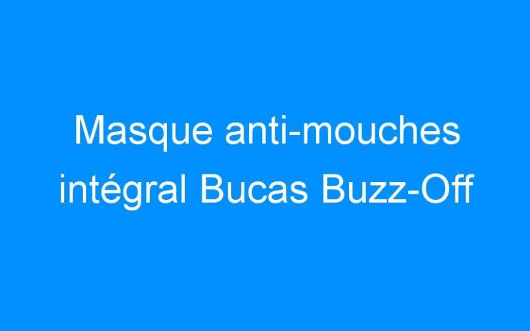 Masque anti-mouches intégral Bucas Buzz-Off