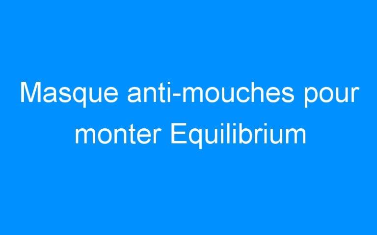 Masque anti-mouches pour monter Equilibrium
