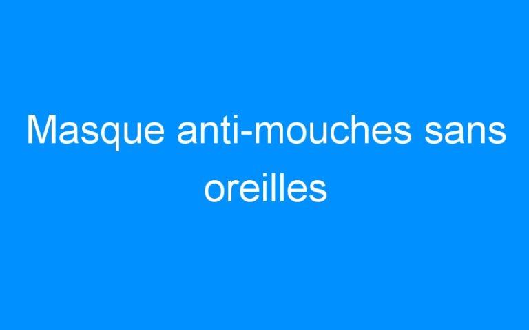 Masque anti-mouches sans oreilles