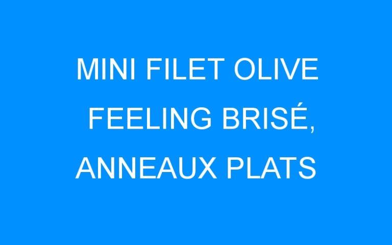 MINI FILET OLIVE FEELING BRISÉ, ANNEAUX PLATS