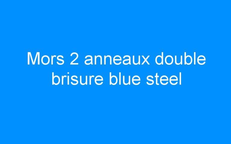 Mors 2 anneaux double brisure blue steel