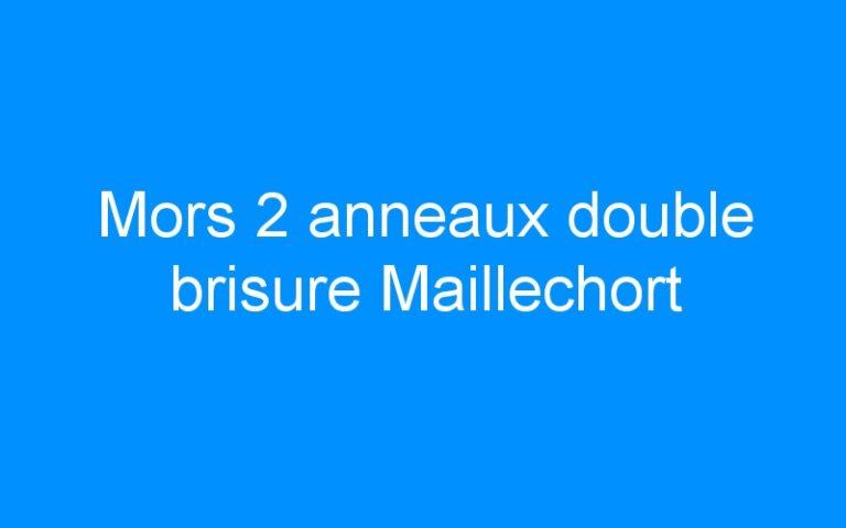 Mors 2 anneaux double brisure Maillechort