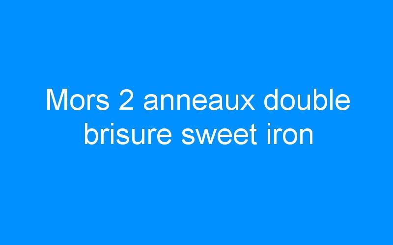 Mors 2 anneaux double brisure sweet iron